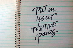 Setzen Sie an Ihren kalligraphischen Hintergrund der positiven Hosen Lizenzfreie Stockbilder