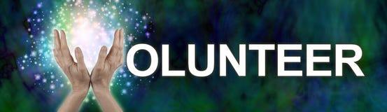 Setzen Sie Ihren Schein in das Freiwillig erbieten Lizenzfreies Stockbild
