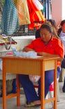 Setzen Sie Kassierer bei der Arbeit, Bangkok, Thailand über Stockfoto