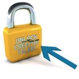 Setzen Sie kreatives Talent frei Lizenzfreie Stockfotos
