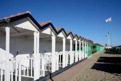 Setzen Sie Landschaft am Stärke dei Marmi, Italien auf den Strand Lizenzfreie Stockbilder