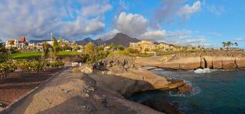 Setzen Sie Las Amerika in der Tenerife-Insel - Kanarienvogel auf den Strand Stockfotografie