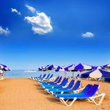 Setzen Sie Las-Aussichten in Adeje Arona an Teneriffa-Süden auf den Strand Stockfoto