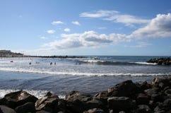 Setzen Sie in Los Christianos auf den Strand Lizenzfreies Stockbild