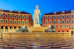 Setzen Sie Massena quadratisches Nizza, französisches Riviera Lizenzfreie Stockbilder