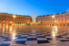 Setzen Sie Massena quadratisches Nizza, französisches Riviera Stockfoto