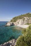 Setzen Sie MikroSeitani in der Insel Samos - Griechenland auf den Strand Lizenzfreie Stockbilder