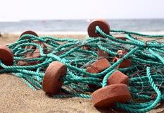 Setzen Sie Netze auf den Strand Lizenzfreies Stockbild