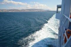 Setzen Sie in Piräus-Hafen, Athen, Griechenland am 19. Juni 2017 über Lizenzfreies Stockfoto