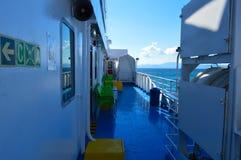 Setzen Sie in Piräus-Hafen, Athen, Griechenland am 19. Juni 2017 über Stockfoto