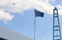 Setzen Sie in Piräus-Hafen, Athen, Griechenland am 19. Juni 2017 über Lizenzfreies Stockbild