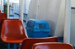 Setzen Sie in Piräus-Hafen, Athen, Griechenland am 19. Juni 2017 über Stockbild