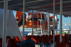 Setzen Sie in Piräus-Hafen, Athen, Griechenland am 19. Juni 2017 über Lizenzfreie Stockfotos