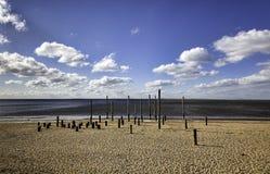 Strand-Promenade nahe Esbjerg, Dänemark Lizenzfreies Stockbild