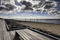 Strand-Promenade nahe Esbjerg, Dänemark Lizenzfreie Stockfotos