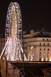 Setzen Sie Rad bis zum Nacht, Marseille, Frankreich über Lizenzfreie Stockbilder