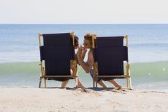 Setzen Sie Rest auf den Strand Stockbilder