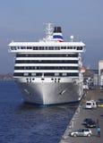 Setzen Sie Romantica Pier im Seehafen von Riga, Lettland über Lizenzfreie Stockfotos