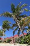 Setzen Sie Seitenlandhaus an St. Jean Beach in St Barts auf den Strand Stockfotos