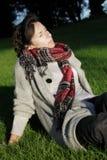 Setzen Sie sich heraus in die Herbstsonne Stockfotografie