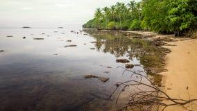 Setzen Sie Sonnenuntergangsonnenaufgang, Sonnenuntergang auf dem Ozean, abstraktes environmenta auf den Strand lizenzfreie stockfotografie
