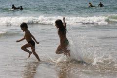 Setzen Sie Szene auf den Strand Stockbilder