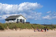 Setzen Sie Szene in Montauk auf den Strand Stockfoto