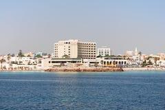 Setzen Sie in Tunesien auf den Strand Lizenzfreies Stockfoto