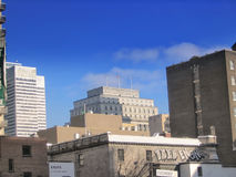 Setzen Sie Ville Marie- u. Sunlife-Gebäude lizenzfreies stockbild