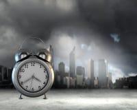 Setzen Sie Zeit Konzeptes fest Wenden Sie getrennt auf weißem Hintergrund ein Stockfoto