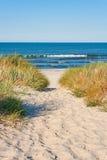 Setzen Sie Zugriff auf den Strand Lizenzfreies Stockbild
