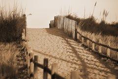 Setzen Sie Zugriff auf den Strand Lizenzfreie Stockbilder