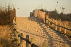 Setzen Sie Zugriff auf den Strand Lizenzfreies Stockfoto