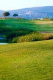 Setzendes Grün des Golffeldes Lizenzfreie Stockbilder