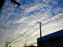 Seu céu e meu céu Fotos de Stock Royalty Free