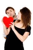 Seu coração está em minhas mãos agora Imagens de Stock
