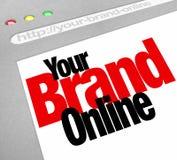Seu Internet em linha da tela do Web site das palavras do tipo Foto de Stock