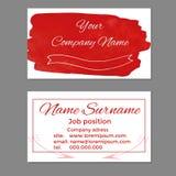 Seu molde dos cartões do nome da empresa Fotografia de Stock