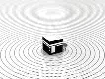 Seu o centro da fé ilustração do vetor