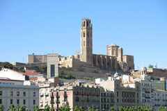 The Seu, Old Cathedral, of Lleida. Catalonia, Spain. Royalty Free Stock Photo
