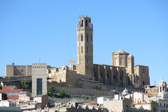 The Seu, Old Cathedral, of Lleida. Catalonia, Spain. Royalty Free Stock Image