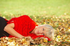 Seu outono! Foto de Stock Royalty Free