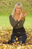 Seu outono! Fotografia de Stock Royalty Free