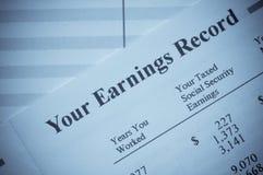 Seu registro do salário Imagens de Stock Royalty Free