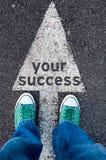 Seu sinal do sucesso Fotografia de Stock