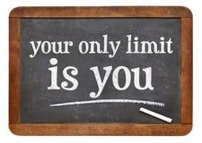 Seu somente limite é você - conceito no quadro-negro imagens de stock royalty free
