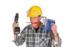 Seu trabalhador manual bem sucedido Imagem de Stock