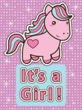 Seu um cartão da menina ilustração royalty free
