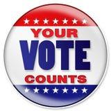 Seu voto Imagens de Stock Royalty Free