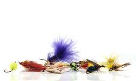 Señuelos de la pesca con mosca Imágenes de archivo libres de regalías